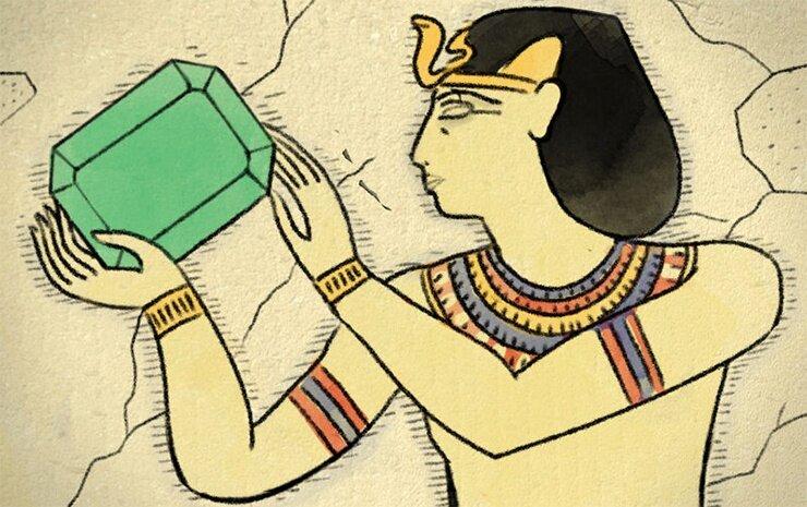 древние египтяне и изумруды